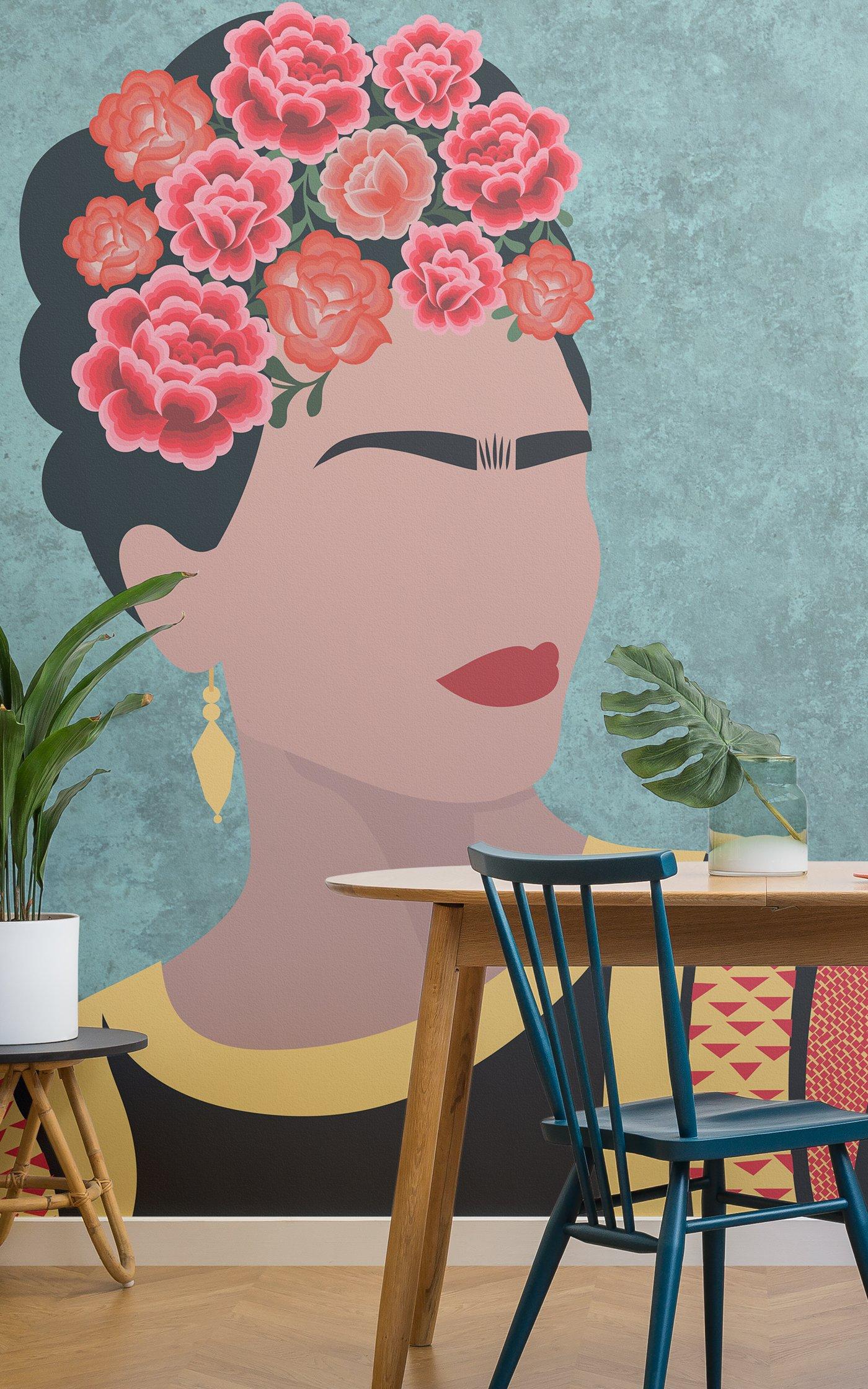 mexican-floral-wallpaper