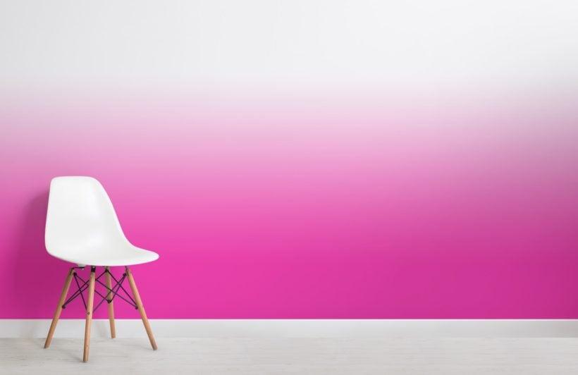 Fuschia Bright Colour Ombre Wallpaper Mural