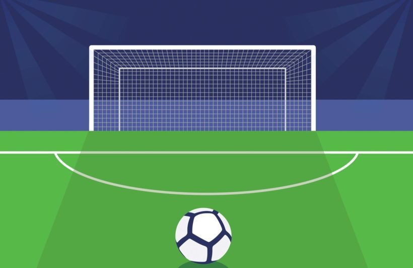 Green Football Goal Wallpaper Mural