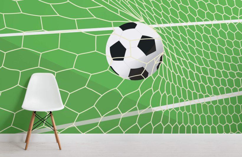 Green Football Net Wallpaper