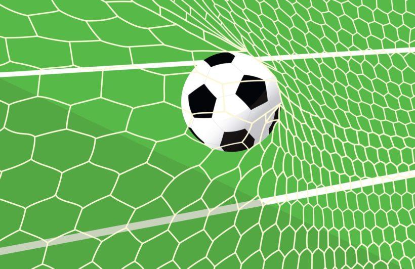 Green Football Net Wallpaper Mural