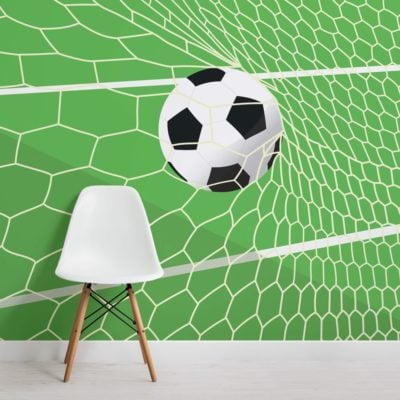 Green Football Net Wallpaper Mural