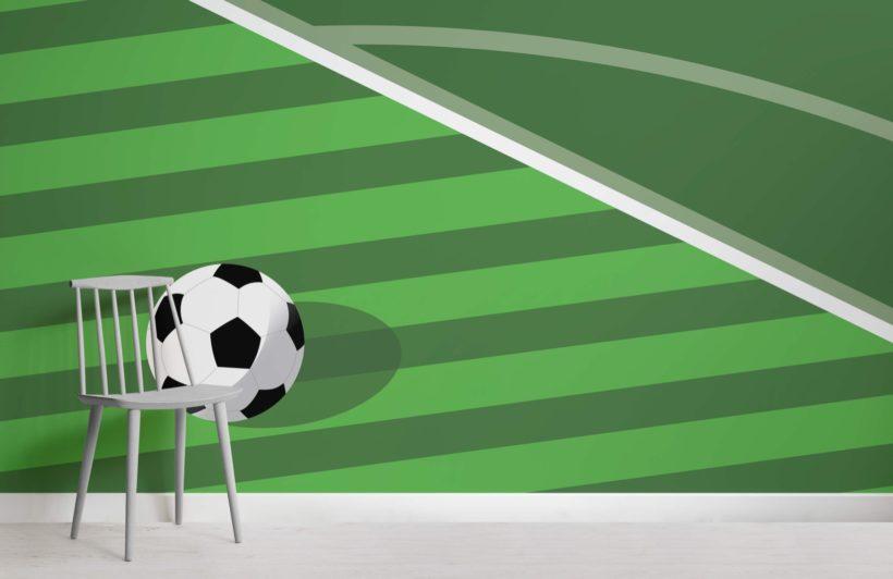 Green Football Pitch Wallpaper Mural