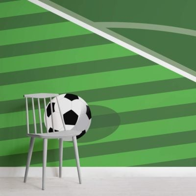 Green Football Pitch Wallpaper Mural