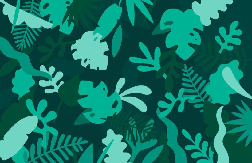 Green Tropical Jungle Leaf Wallpaper Mural