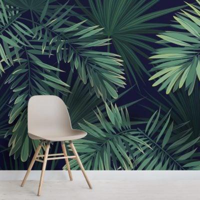 Green Tropical Plant Wallpaper Mural