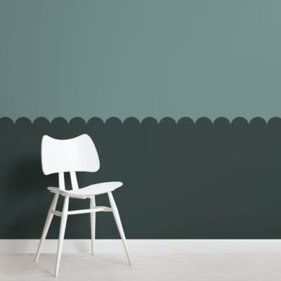Green Two Tone Patterned Geometric Wallpaper Mural