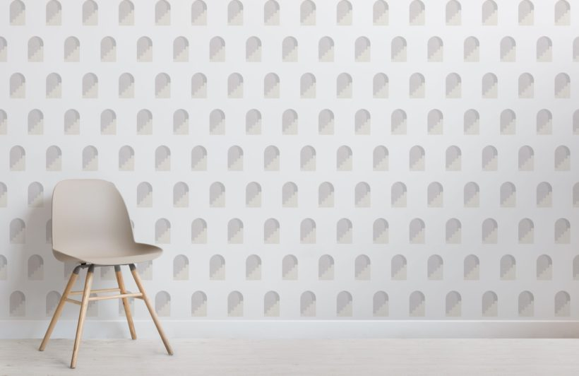 Grey Archway Pattern Architectural Design Wallpaper Mural