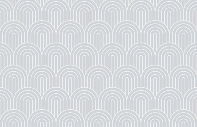 Grey Geometric Infinite Loop Striped Wallpaper Mural