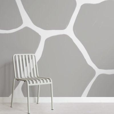 Grey Giraffe Print Wallpaper Mural