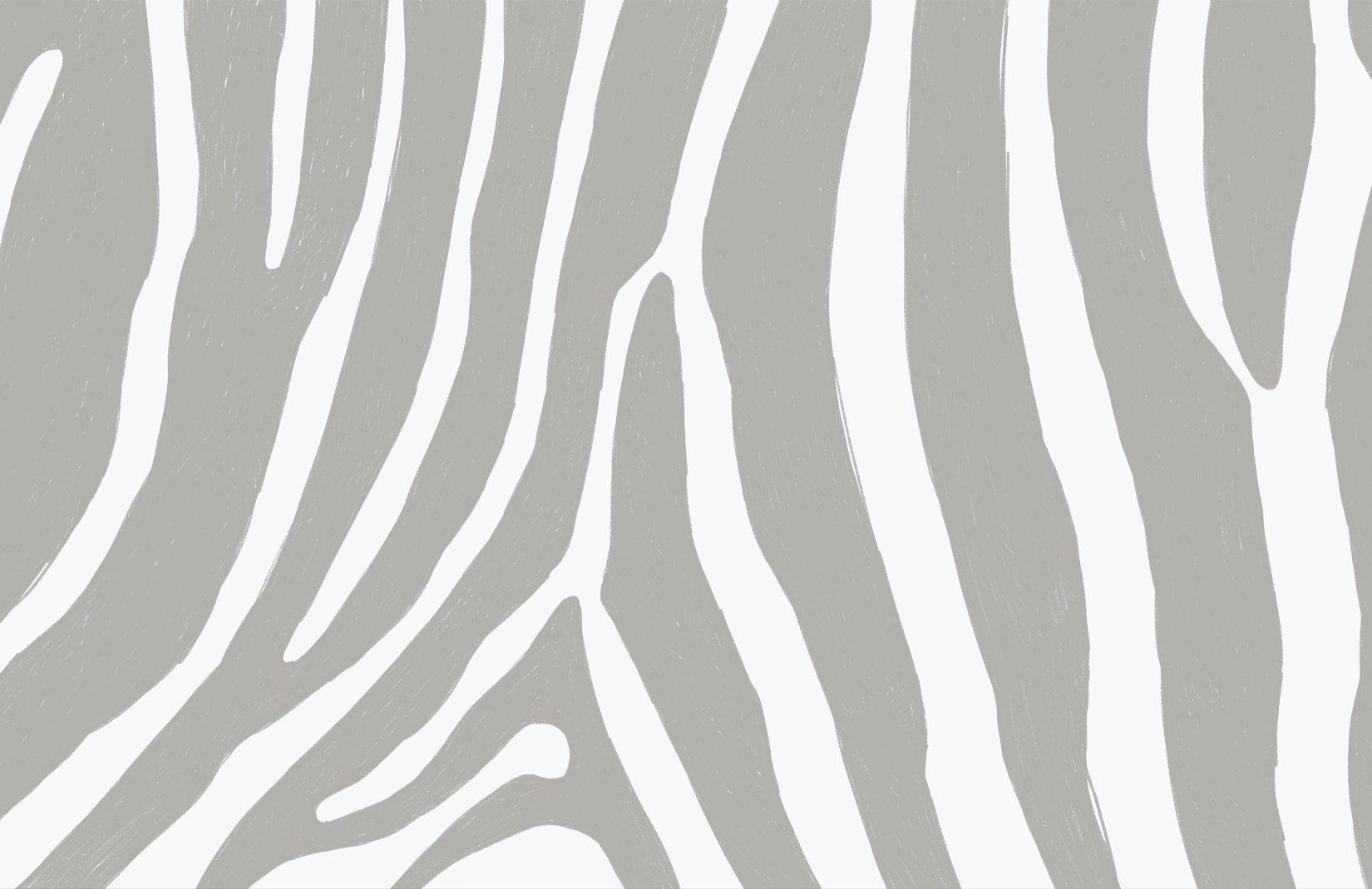 Grey and white zebra stripes wall mural
