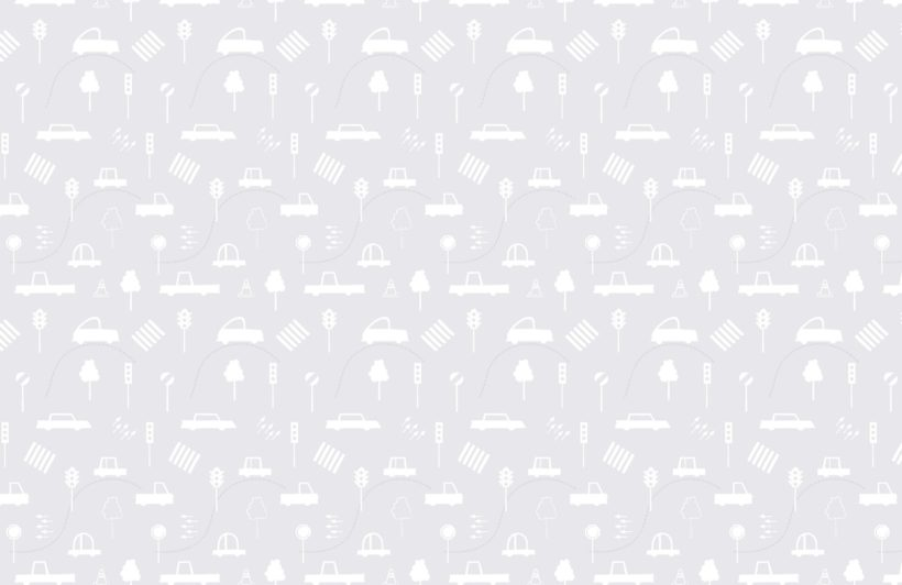 Grey and White Traffic Jam Wallpaper Mural