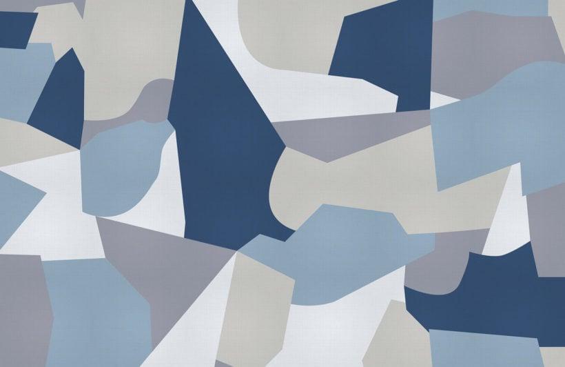 Guirand de Scévola-abstract camo-plain-wall mural-kj