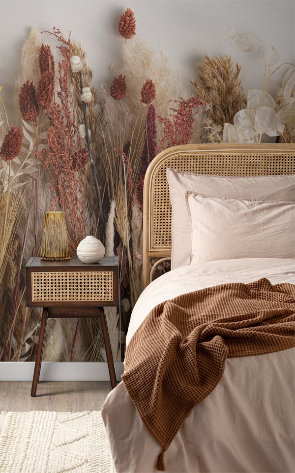 Campaign Poster - Autumnal Dried Flowers Wallpaper Mural