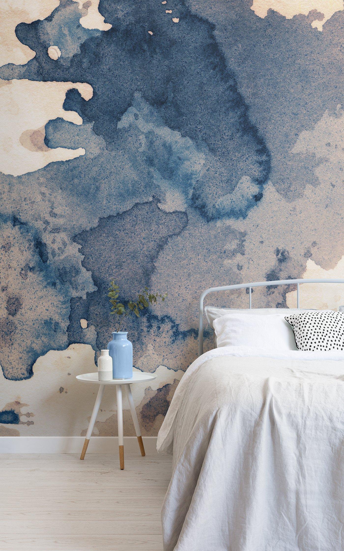 ink blot watercolour wallpaper