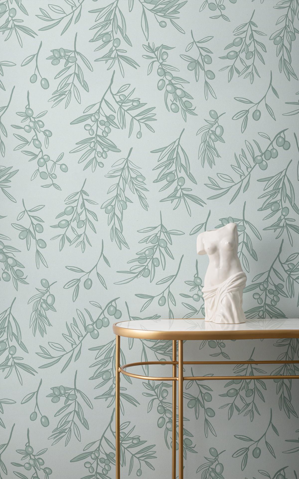 Kalamata Ancient Greece olive wallpaper mural in room setting