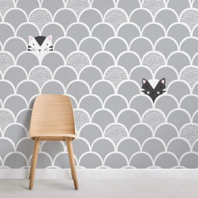 Kids-Grey-Pop-Up-Cats-Wallpaper-Mural