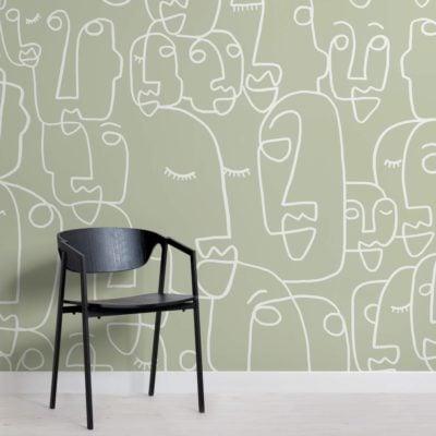 Large Sage Face Wallpaper Mural