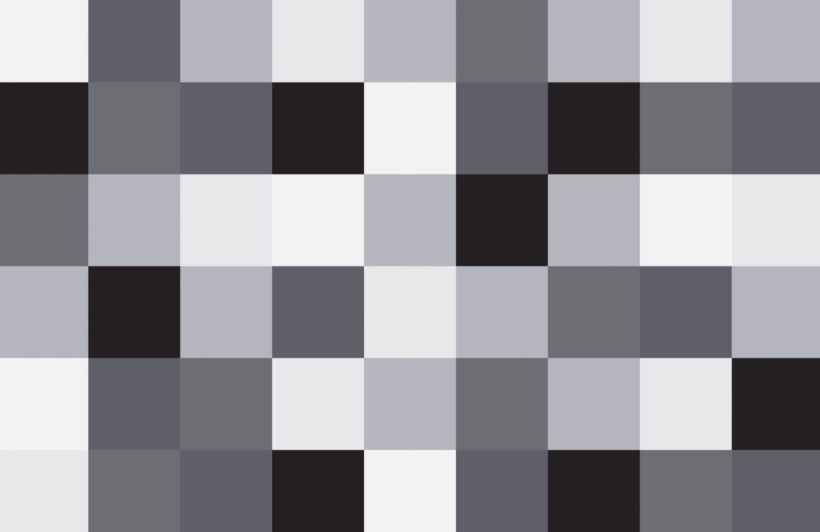 Large Grey Squares Pixel Style Wallpaper Mural