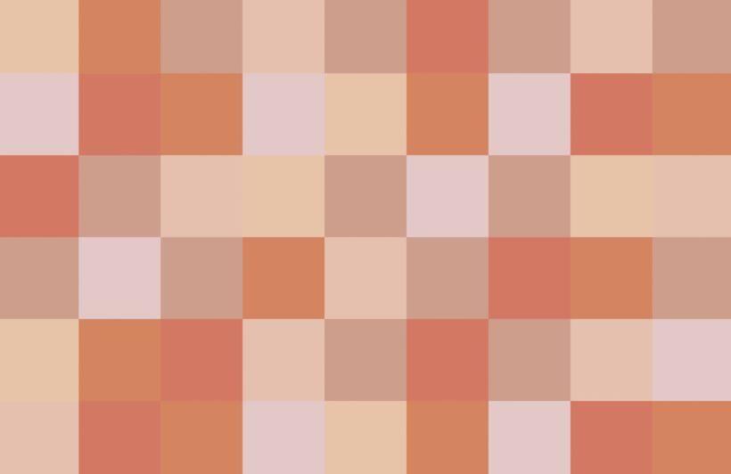 Large Terracotta Squares Pixel Style Wallpaper Mural