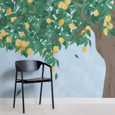 Lemon Tree Painterly Wallpaper Mural