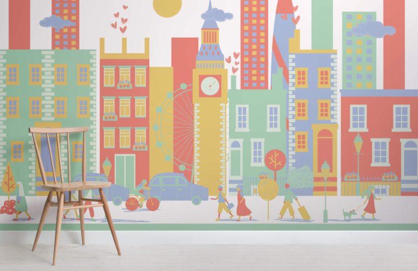 London City Living Mural Wallpaper