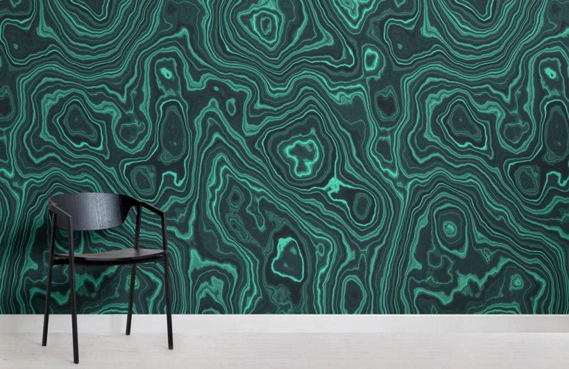 Malachite-crystal-wall-mural