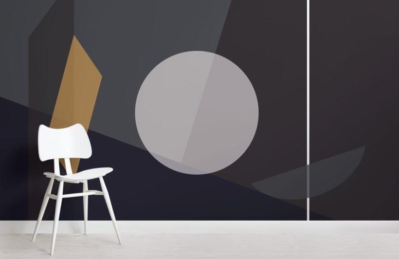 Mid Century Modern Circle Geometric Wallpaper Mural