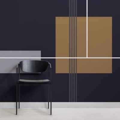 Mid Century Modern Squares Geometric Wallpaper Mural