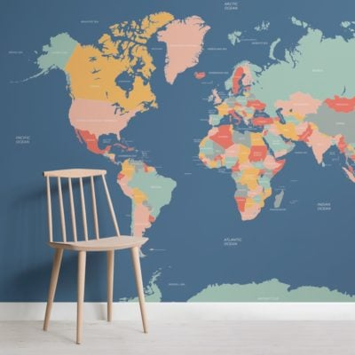 Navigator Kids Map Wallpaper Mural