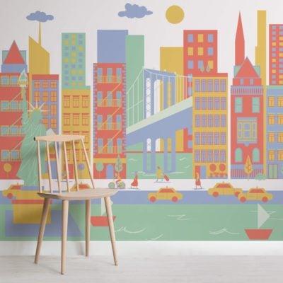 New York City Living Mural Wallpaper