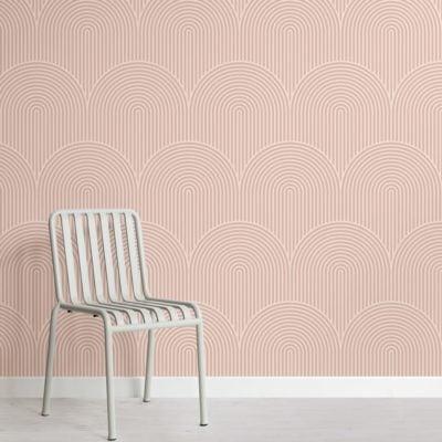 Nude Circuit Design Geometric Striped Wallpaper Mural