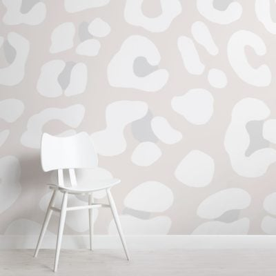 Off White Leopard Print Wallpaper Mural