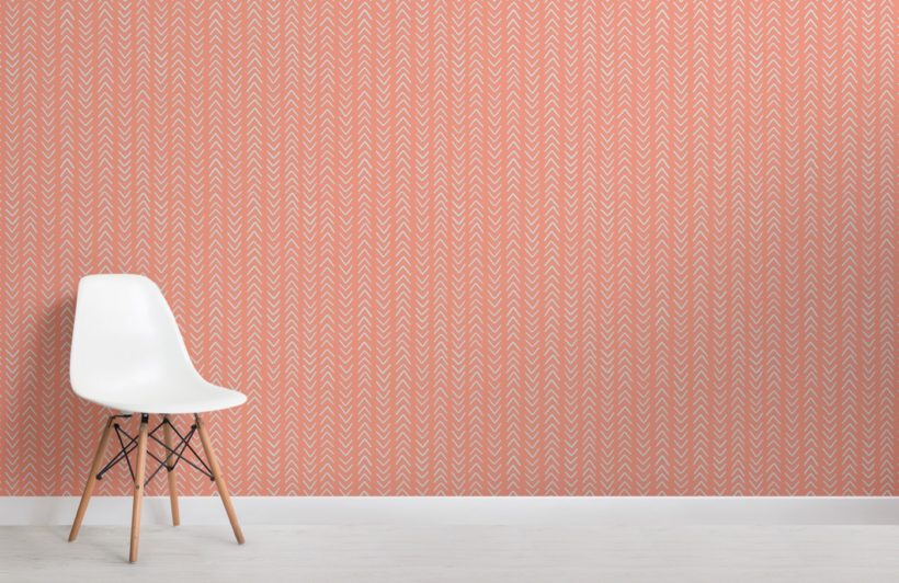 Orange Arrowhead Wallpaper Mural