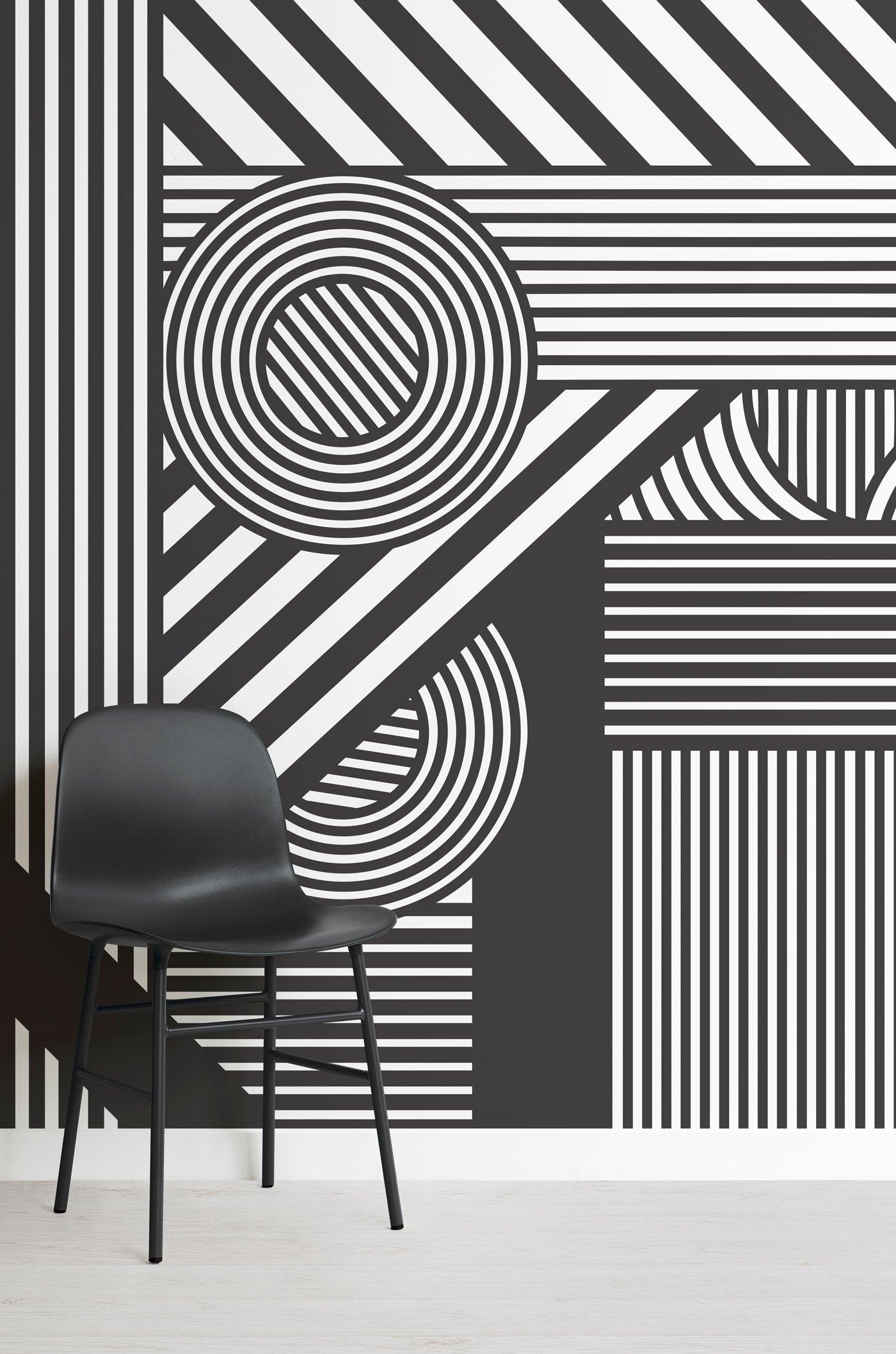 Oriz-Geometric-Black-and-White-Mural