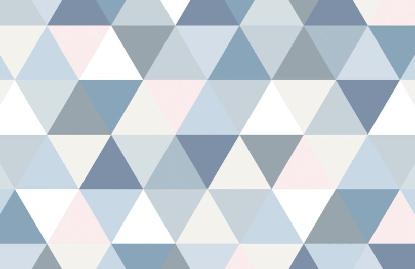 Pastel Geometric Triangle Pattern Wallpaper Mural
