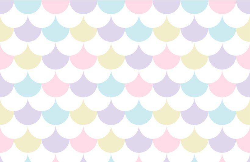 Pastel Pattern Geometric Wallpaper Mural