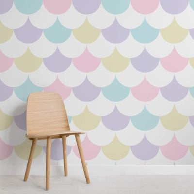 Pastel Pattern Geometric Wallpaper Mural