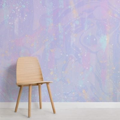 Pastel Pink and Purple Unicorn Colour Wallpaper Mural