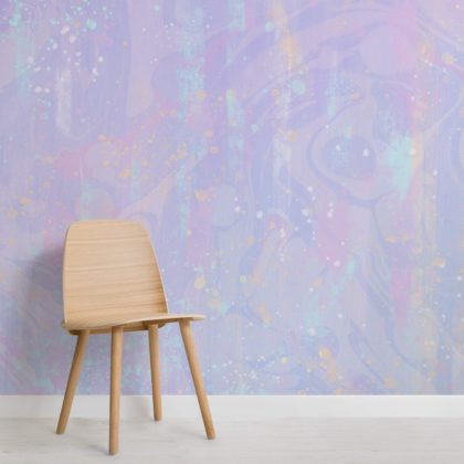 Pastel Pink & Purple Unicorn Wallpaper Mural Image
