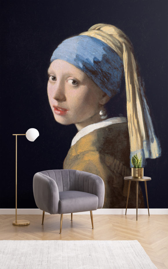 Girl With a Pearl Earring by Vermeer Wall Mural Blog Image