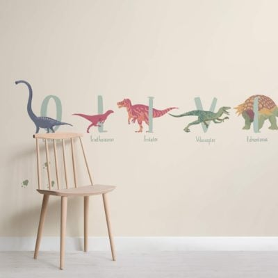 Personalised Name Dinosaur Wallpaper Mural