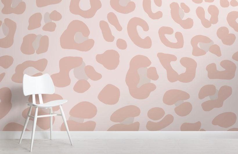 Pink Leopard Print Wallpaper Mural