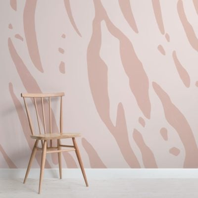 Pink Tiger Print Wallpaper Mural