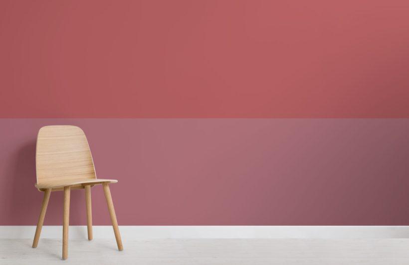 Pink Two Tone Geometric Wallpaper Mural