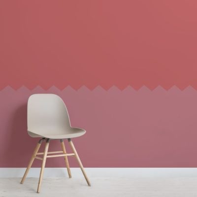 Pink Two Tone Zig Zag Geometric Wallpaper Mural