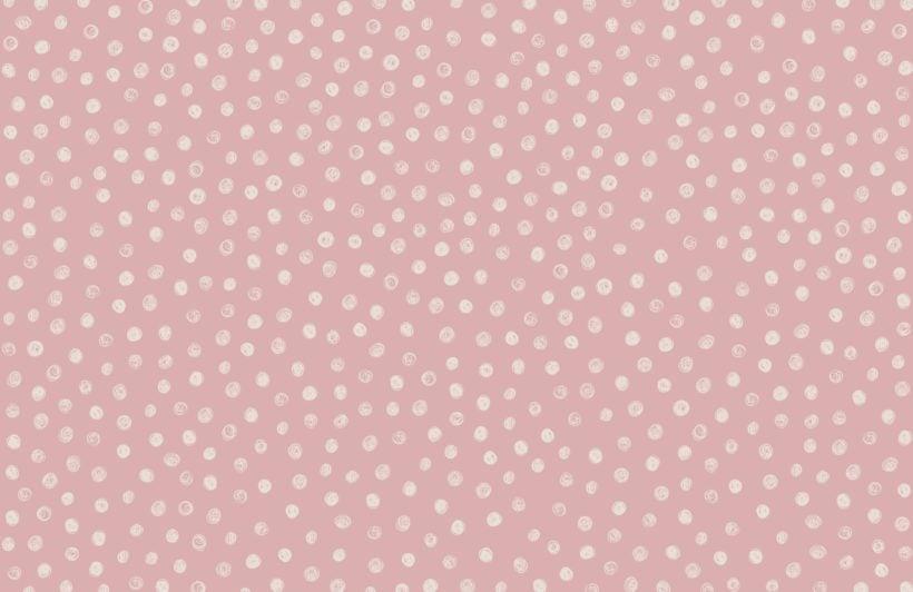 Pink Watercolour Polka Dot Wallpaper Mural