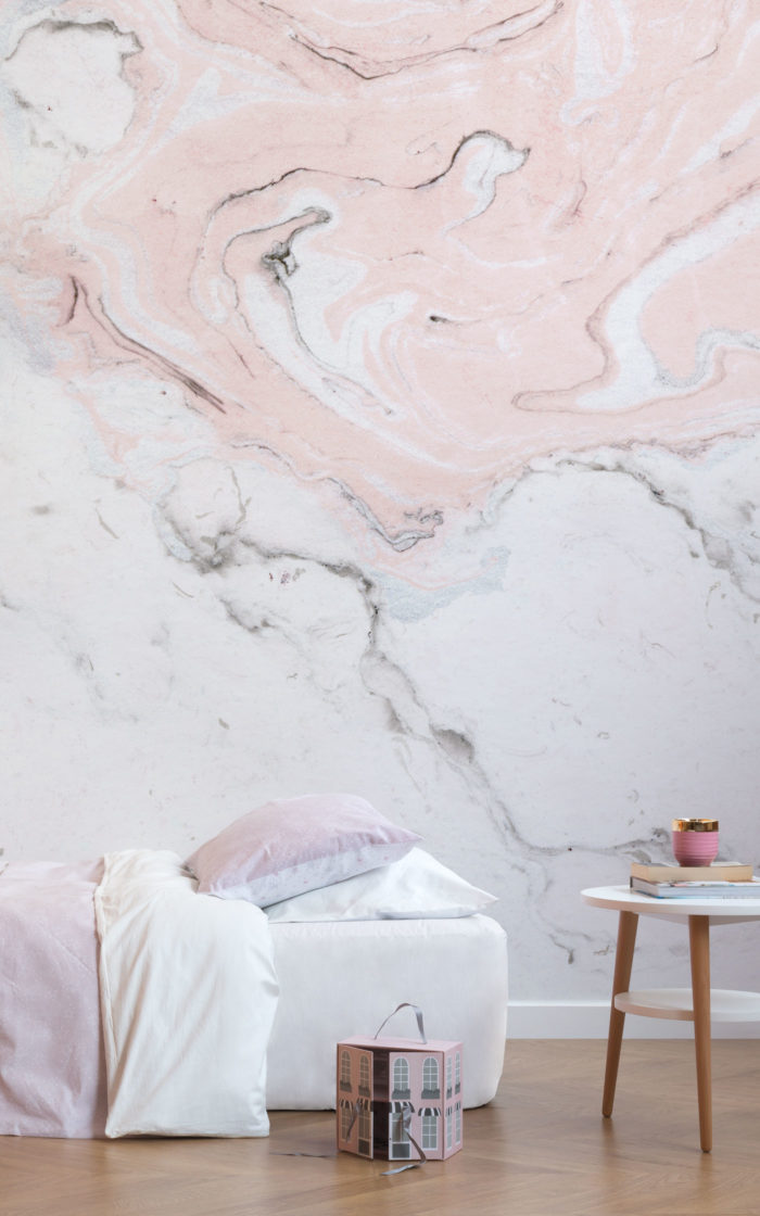 Pink-and-white-Marble-Bedroom