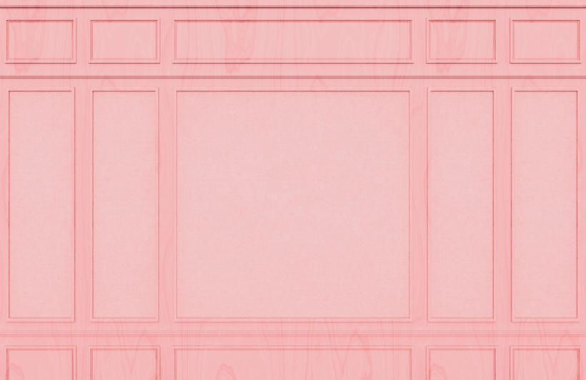 Pink Rectangle Georgian Wood Panel Effect Wallpaper Mural-Square