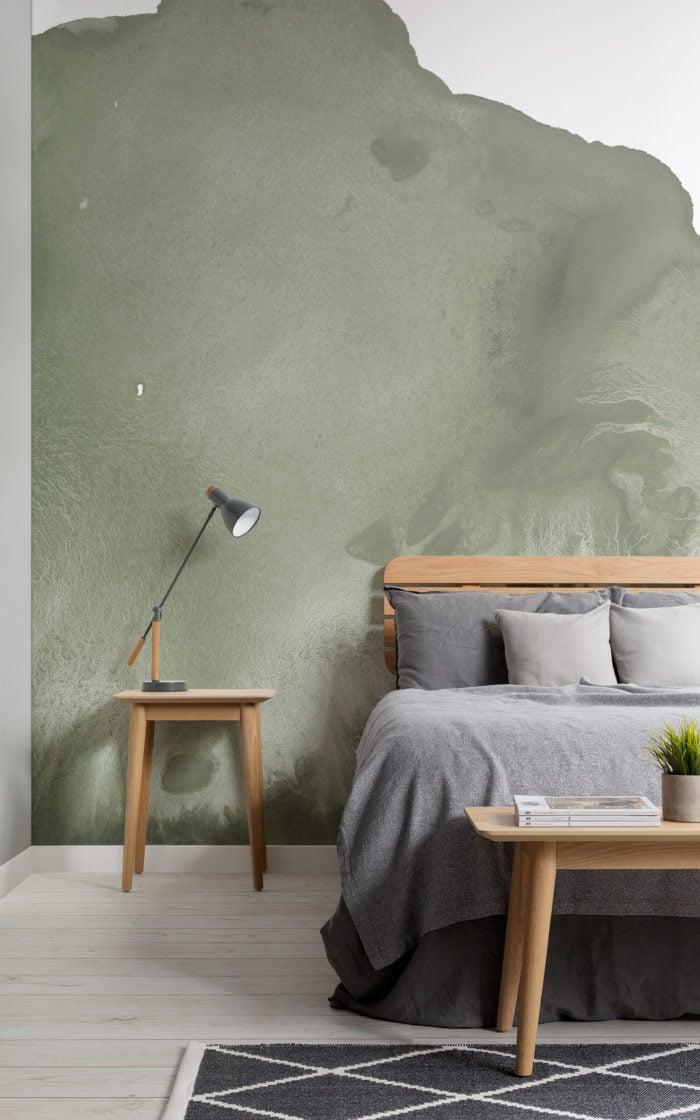 sage watercolour wallpaper